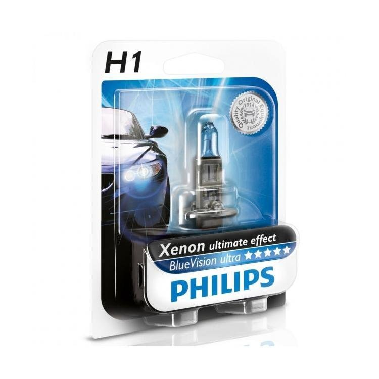 philips bluevision ultra h1 car headlight bulbs powerbulbs. Black Bedroom Furniture Sets. Home Design Ideas