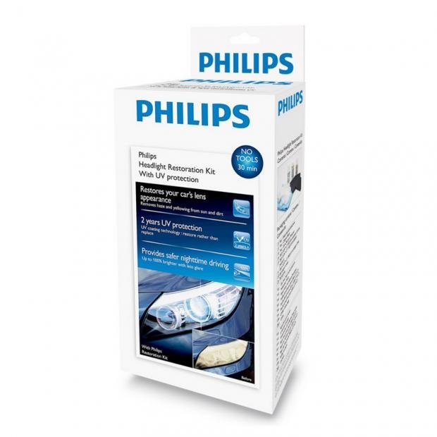 Philips Headlight Restoration Kit with UV Protection
