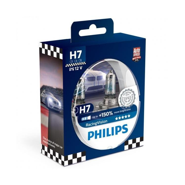 philips racingvision h7 car headlight bulbs twin. Black Bedroom Furniture Sets. Home Design Ideas