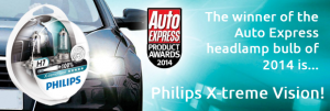 Philips win Auto Express headlamp bulb of 2014!