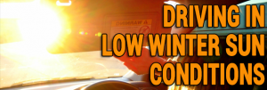 Driving Tips For Low Winter Sun Conditions
