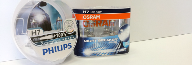 Philips X-treme Vision vs. OSRAM Night Breaker Plus