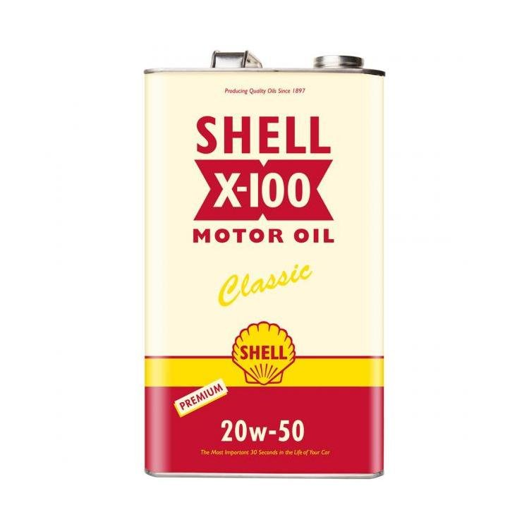 Shell heritage x 100 sae 20w 50 classic motor oil 5 for Classic motor oil 20w50