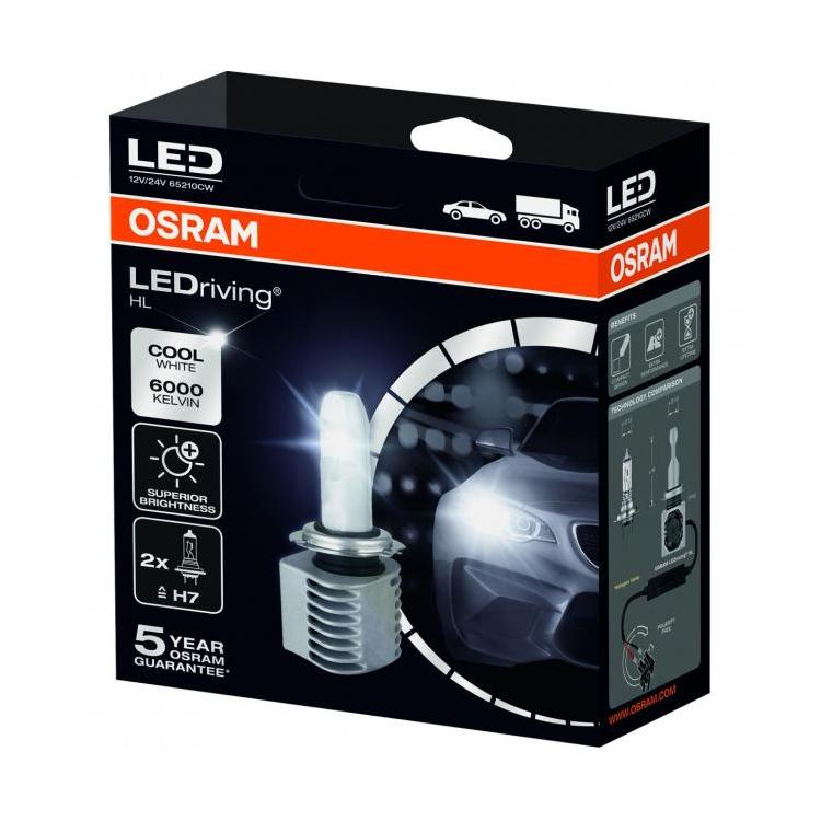 osram ledriving h7 twin led headlight bulbs powerbulbs. Black Bedroom Furniture Sets. Home Design Ideas