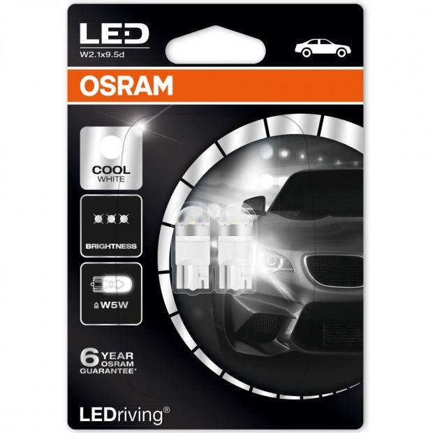 LEDriving Premium LED W5W Cool White (Twin) - Replacement 2825DWP-02B