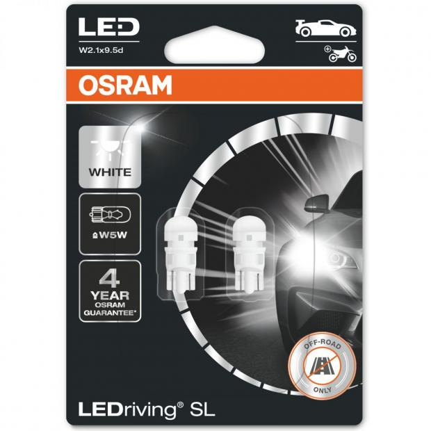 LEDriving SL LED W5W 6000K Cool White Sidelight Bulbs (Twin)