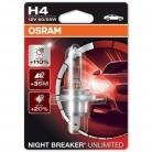 OSRAM Night Breaker Unlimited H4 (Single Blister)