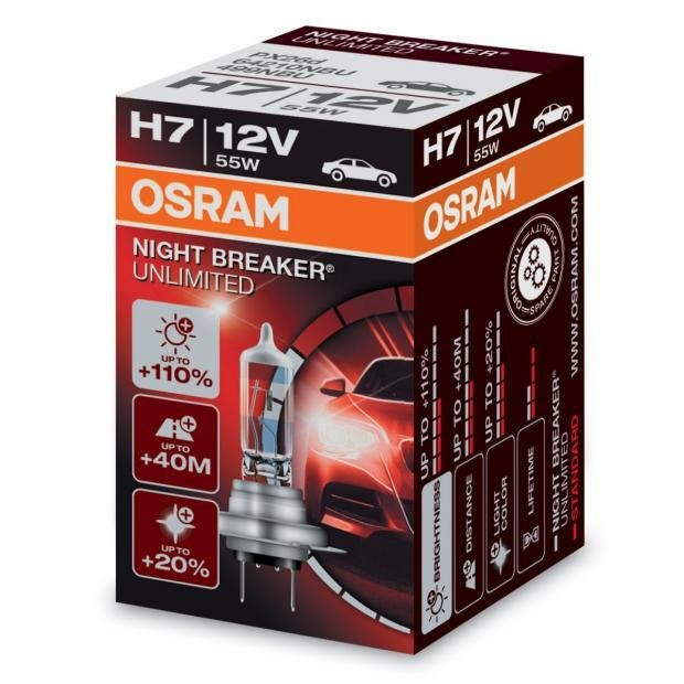 osram night breaker unlimited h7 car headlight bulb powerbulbs. Black Bedroom Furniture Sets. Home Design Ideas
