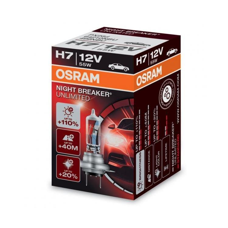 osram night breaker unlimited h7 car headlight bulb. Black Bedroom Furniture Sets. Home Design Ideas