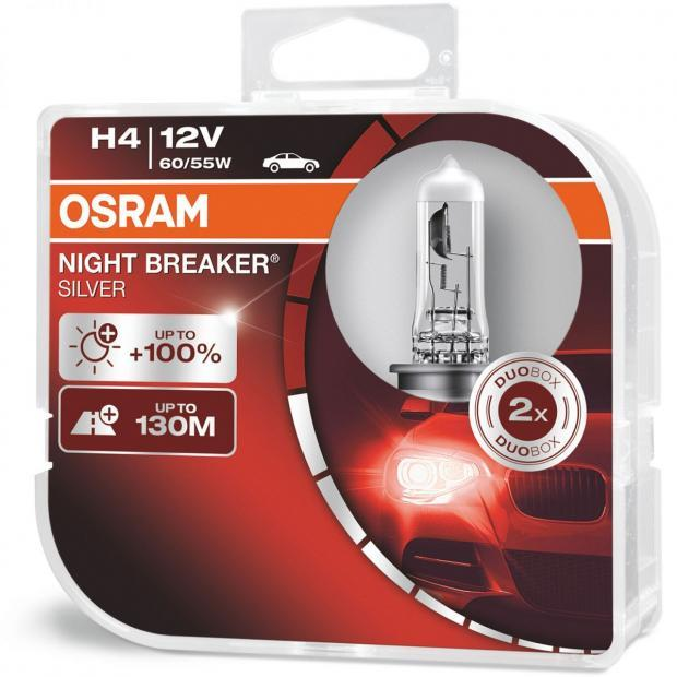 osram night breaker silver h4 twin headlight bulbs. Black Bedroom Furniture Sets. Home Design Ideas
