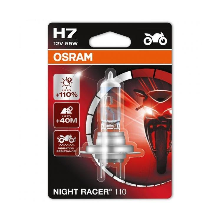 osram night racer 110 h7 motorcycle bulbs powerbulbs. Black Bedroom Furniture Sets. Home Design Ideas