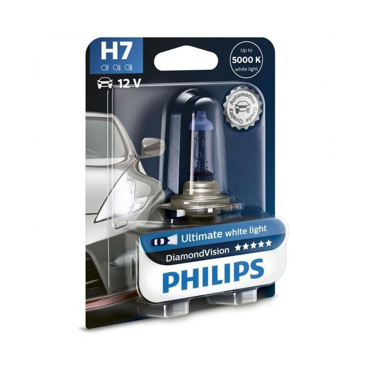 philips diamond vision h7 replacement headlight bulbs powerbulbs. Black Bedroom Furniture Sets. Home Design Ideas