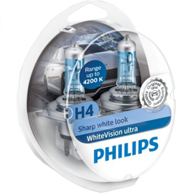 philips whitevision ultra new halogen headlight bulb range powerbulbs. Black Bedroom Furniture Sets. Home Design Ideas
