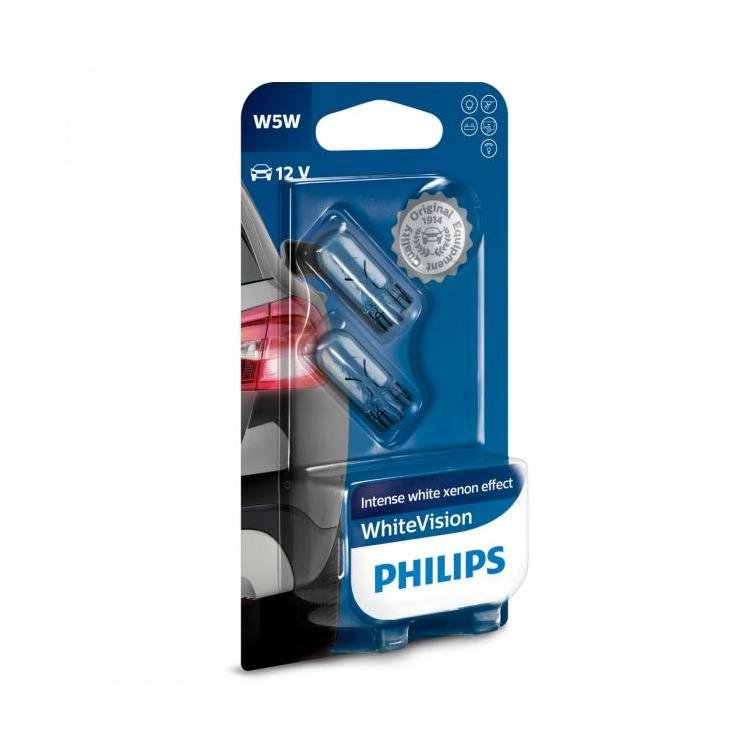 Philips Whitevision W5w Car Sidelight Bulb Lamps