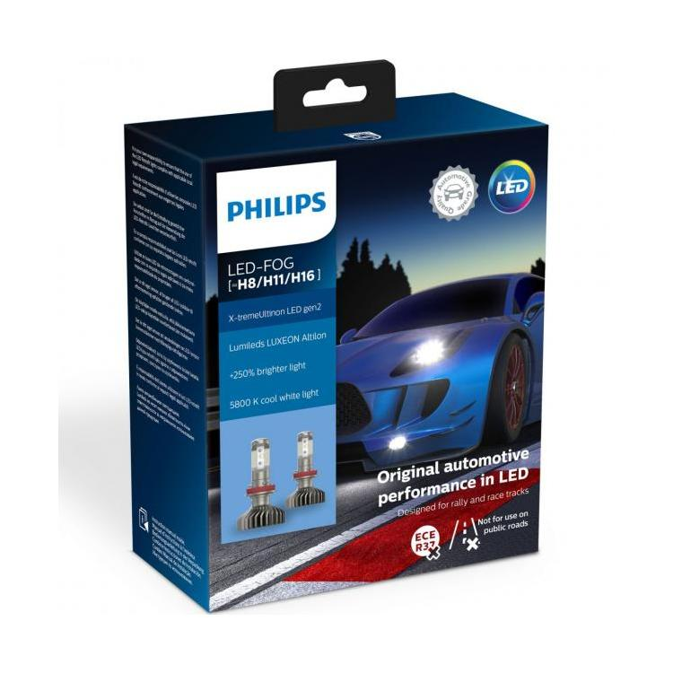 philips x tremeultinon gen2 h8 h11 h16 led lamps powerbulbs. Black Bedroom Furniture Sets. Home Design Ideas
