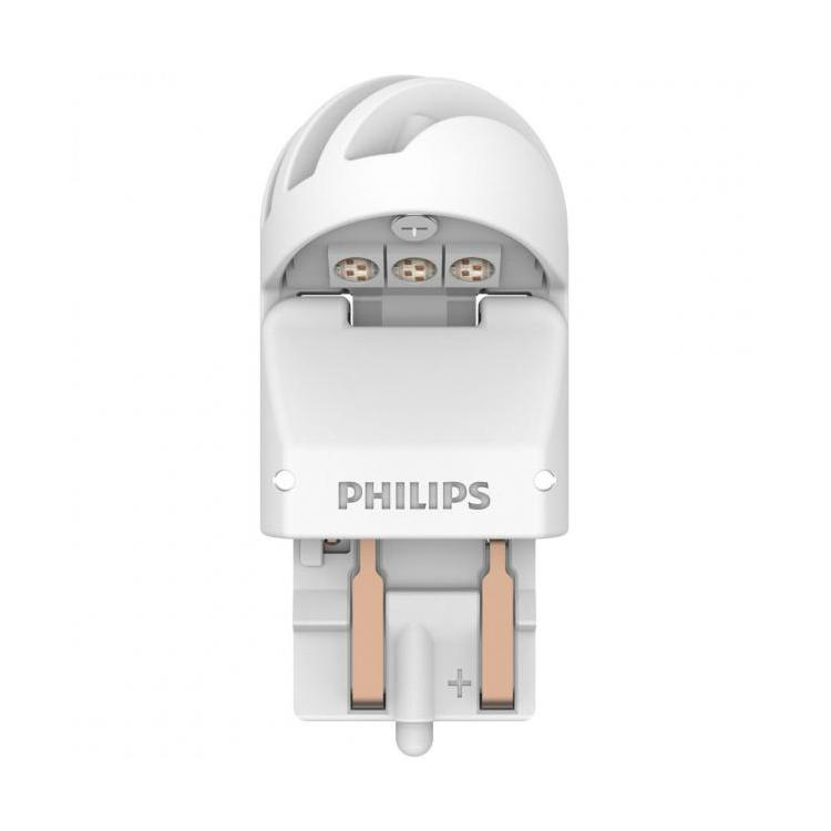 Twin Philips X-tremeUltinon gen2 LED X-treme Ultinon P21//5W Red LED Car Bulbs