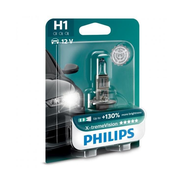 philips x treme vision 130 h1 single pack powerbulbs. Black Bedroom Furniture Sets. Home Design Ideas