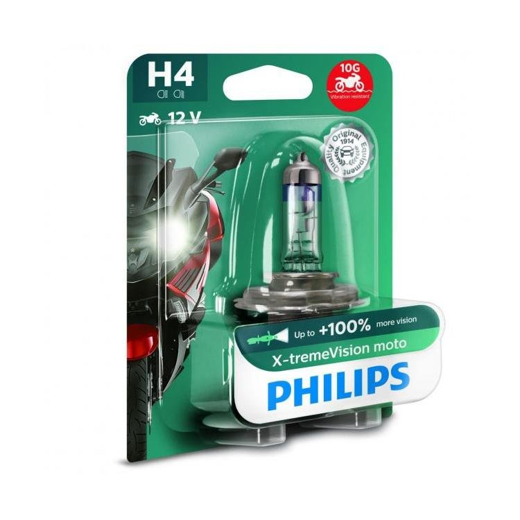 philips x treme vision moto h4 single powerbulbs. Black Bedroom Furniture Sets. Home Design Ideas