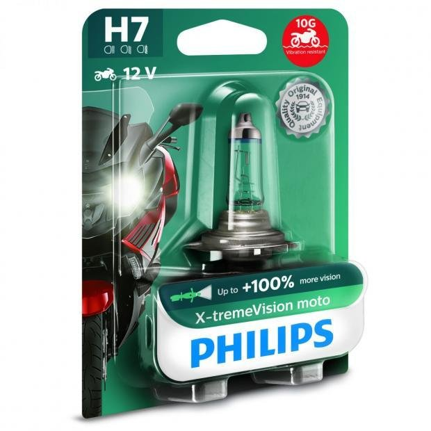 philips x treme vision moto h7 motorcycle bulbs powerbulbs. Black Bedroom Furniture Sets. Home Design Ideas