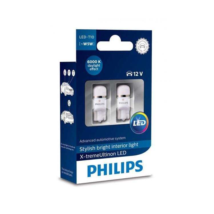 philips x treme ultinon led w5w 501 interior car bulb. Black Bedroom Furniture Sets. Home Design Ideas