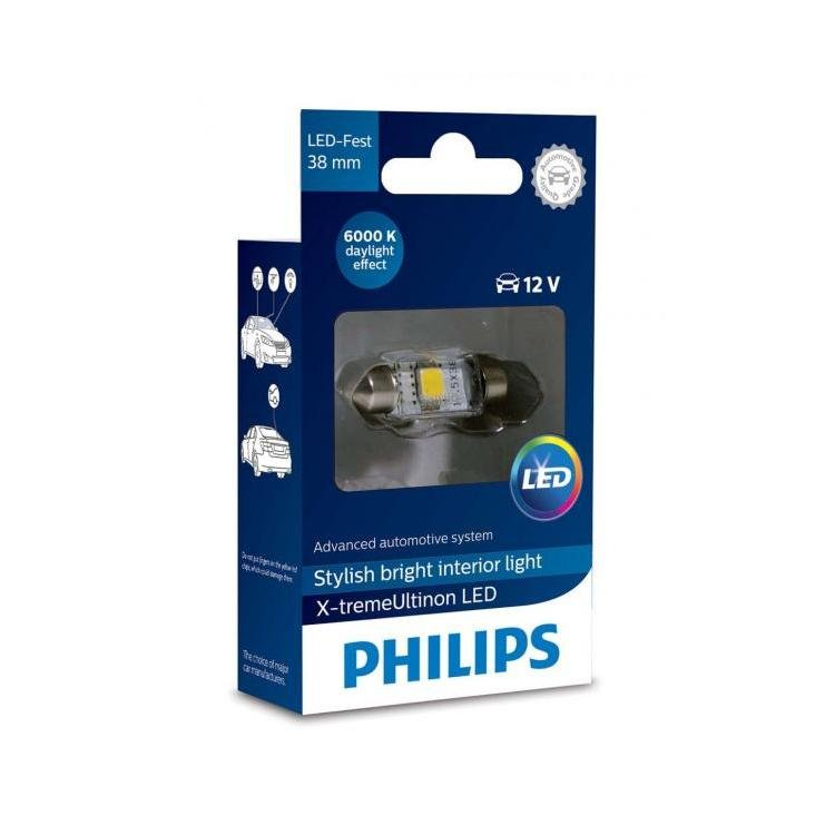 philips x treme ultinon led c5w 38mm 6000k car headlight. Black Bedroom Furniture Sets. Home Design Ideas