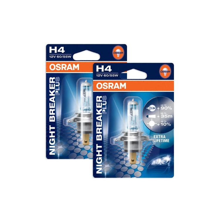 osram night breaker plus h4 2x single powerbulbs. Black Bedroom Furniture Sets. Home Design Ideas